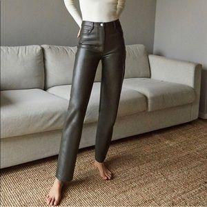 Aritzia Melina vegan leather pants size 4